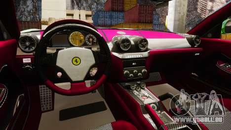 Ferrari 599 GTO PJ1 pour GTA 4 est une vue de l'intérieur