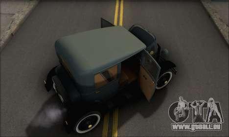 Ford T 1927 für GTA San Andreas Seitenansicht