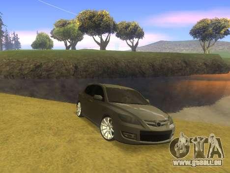 Mazda 3 v2 pour GTA San Andreas sur la vue arrière gauche
