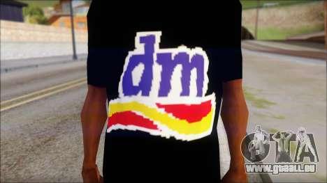 DM T-Shirt Drogerie Market pour GTA San Andreas troisième écran