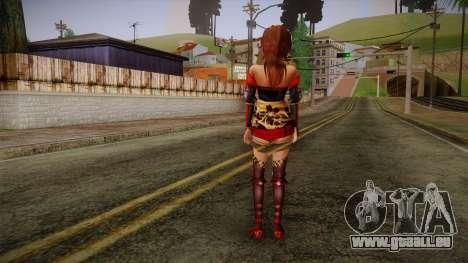 Kai from Samurai Warriors 3 pour GTA San Andreas deuxième écran