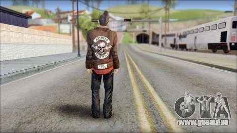 Biker from Avenged Sevenfold 3 für GTA San Andreas zweiten Screenshot