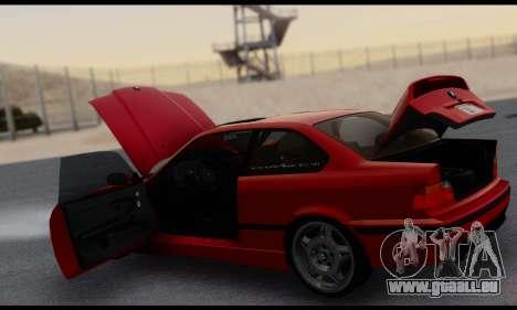 BMW M3 E36 1994 pour GTA San Andreas vue de dessous