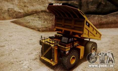 Caterpillar 797 pour GTA San Andreas sur la vue arrière gauche