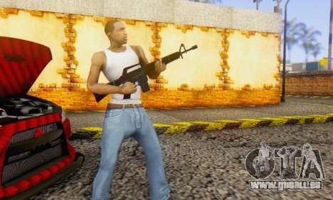 Abstract M16 pour GTA San Andreas troisième écran