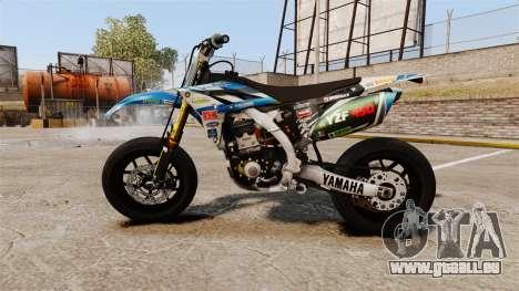 Yamaha YZF-450 v1.9 pour GTA 4 est une gauche