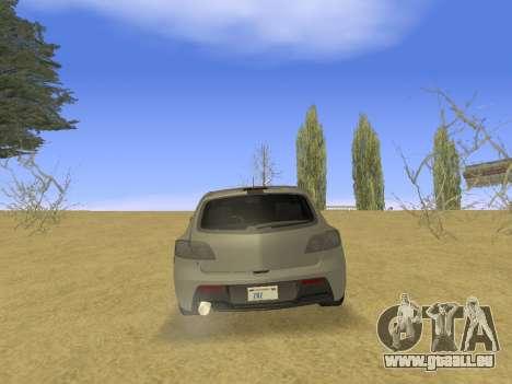 Mazda 3 v2 pour GTA San Andreas vue de droite