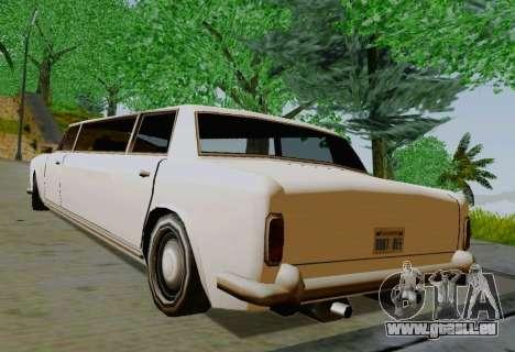 Stafford Limousine für GTA San Andreas zurück linke Ansicht