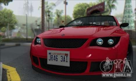 Überlegenheit Sentinel XS für GTA San Andreas zurück linke Ansicht