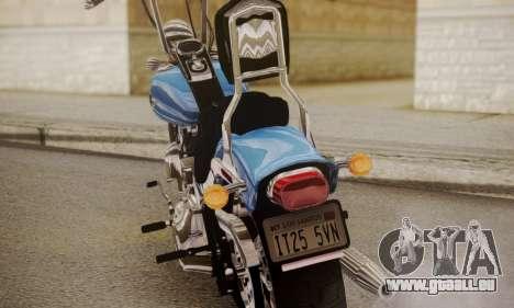 Harley-Davidson FXSTS Springer Softail für GTA San Andreas rechten Ansicht
