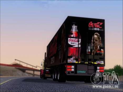 Remorque Chereau Coca-Cola Zero De Camion pour GTA San Andreas vue de dessous