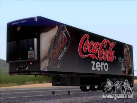 Remorque Chereau Coca-Cola Zero De Camion pour GTA San Andreas