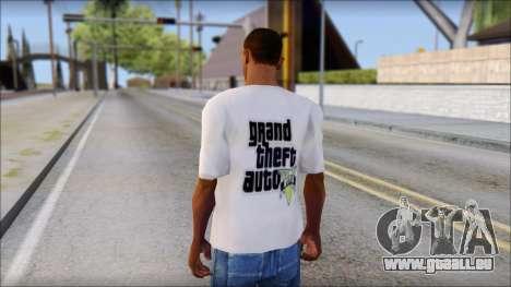 GTA 5 Fan T-Shirt pour GTA San Andreas deuxième écran