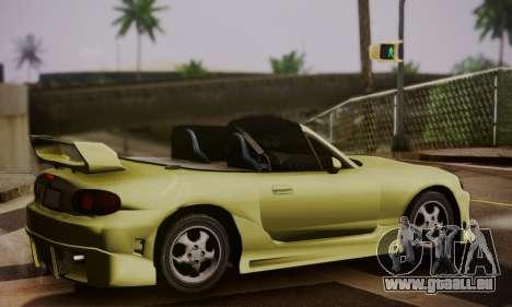 Mazda MX5 DUB pour GTA San Andreas laissé vue