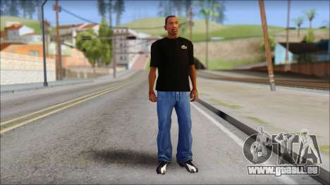 Black Izod Lacoste T-Shirt für GTA San Andreas dritten Screenshot