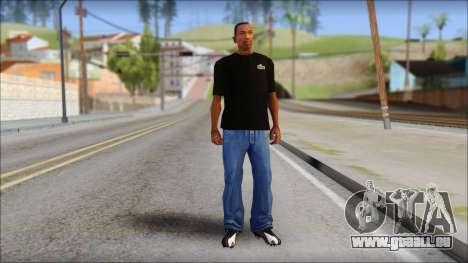 Black Izod Lacoste T-Shirt pour GTA San Andreas troisième écran