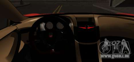 Spano Black pour GTA San Andreas sur la vue arrière gauche