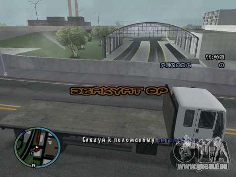 Évacuateur v1.0 pour GTA San Andreas quatrième écran