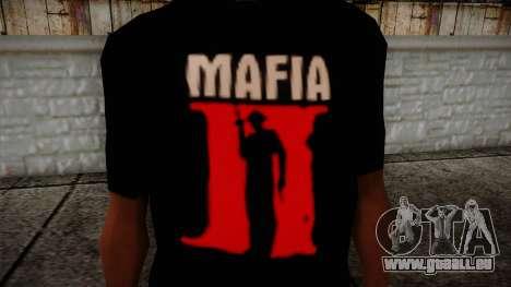 Mafia 2 Black Shirt pour GTA San Andreas troisième écran