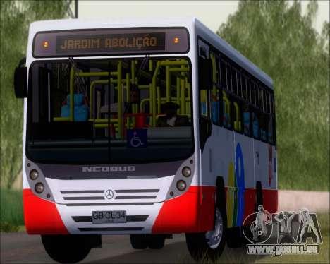 Neobus Mega IV - TCA (Araras) für GTA San Andreas Rückansicht