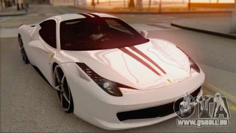 Ferrari 458 Italia für GTA San Andreas obere Ansicht