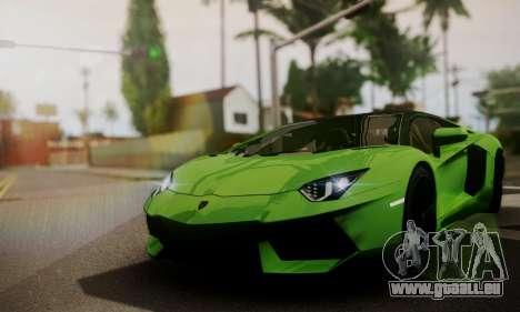 Lamborghini Aventador TT Ultimate Edition pour GTA San Andreas vue intérieure