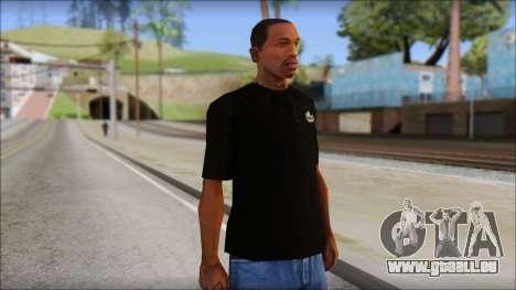 Black Izod Lacoste T-Shirt für GTA San Andreas
