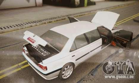 Peugeot Pars Limouzine pour GTA San Andreas vue intérieure