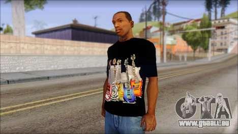 Guitar T-Shirt Mod v2 für GTA San Andreas