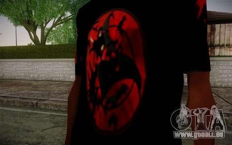 Uchiha Itachi T-Shirt für GTA San Andreas zweiten Screenshot