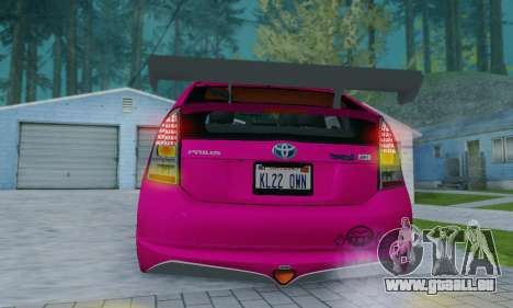 Toyota Prius Tunable pour GTA San Andreas vue de dessus