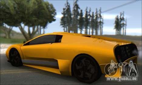 Pegassi Infernus pour GTA San Andreas vue de droite