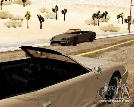 Jester Cabrio für GTA San Andreas Innenansicht