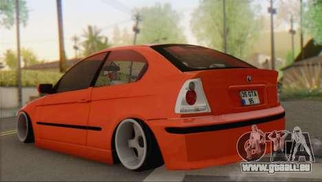 BMW 316i Compact pour GTA San Andreas laissé vue
