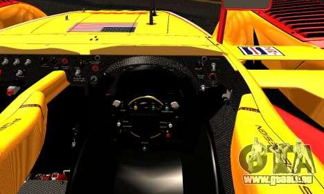 Porsche RS Spyder Evo 2008 pour GTA San Andreas vue intérieure