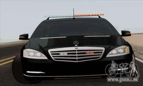Mercedes-Benz S600 W221 2012 pour GTA San Andreas laissé vue