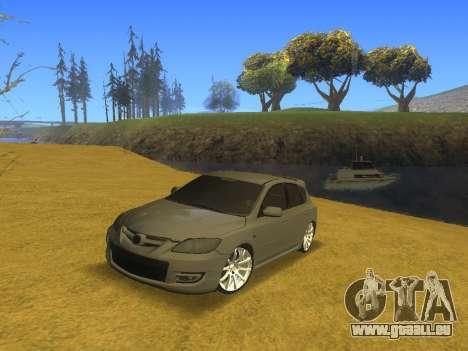Mazda 3 v2 pour GTA San Andreas vue arrière