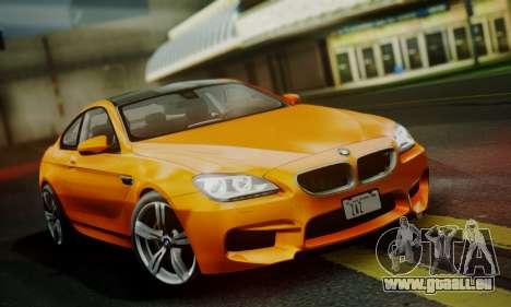 BMW M6 F13 2013 pour GTA San Andreas vue de côté