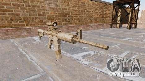 Automatique carabine ME Figure Camo beige pour GTA 4