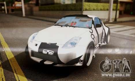 Nissan 350z Angel Beast Itasha Edition für GTA San Andreas obere Ansicht