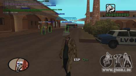 ESP pour GTA San Andreas deuxième écran