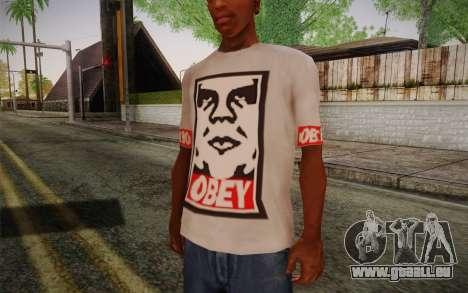 Obey Shirt pour GTA San Andreas