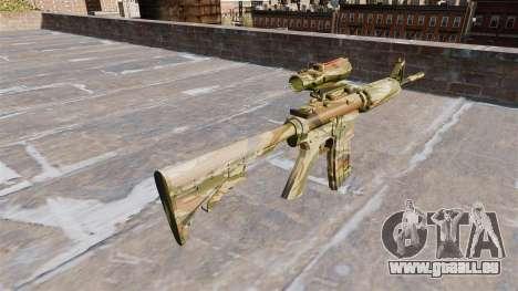 Automatique carabine MA Vert de la canne à Camo pour GTA 4 secondes d'écran