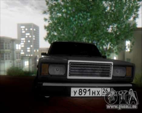 VAZ 2107 pour GTA San Andreas laissé vue