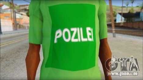 Pozilei T-Shirt pour GTA San Andreas troisième écran