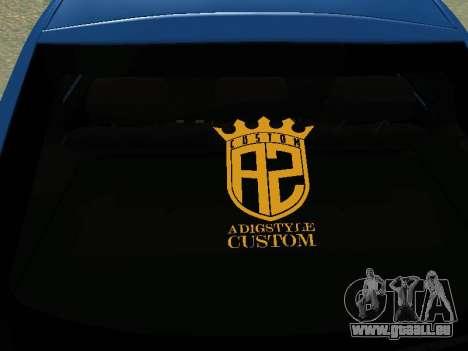 Lada Granta Liftback pour GTA San Andreas vue intérieure
