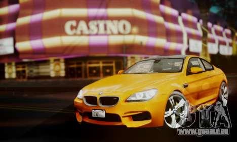 BMW M6 F13 2013 pour GTA San Andreas vue de droite