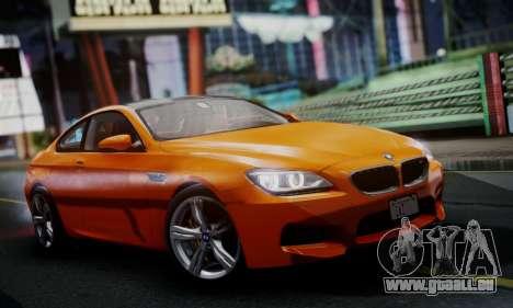 BMW M6 F13 2013 pour GTA San Andreas laissé vue