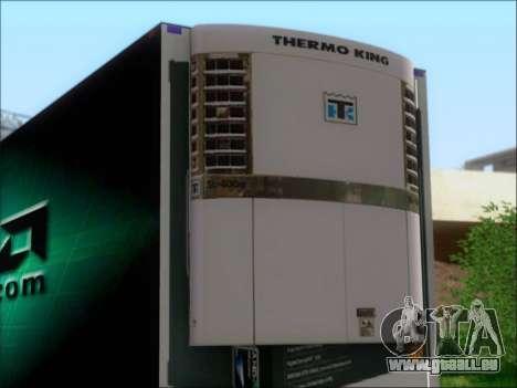 Remorque AMD Phenom X4 pour GTA San Andreas vue arrière