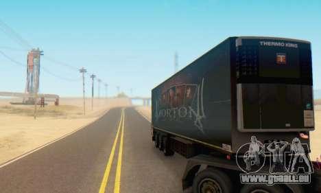 Remorque Chereau Morton Bande 2014 pour GTA San Andreas vue arrière